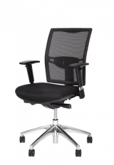 Black Upholstered Net covered Meeting Chair number 31